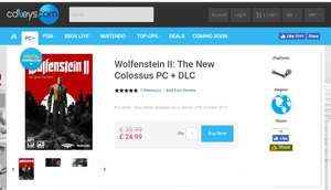 Daily deal: Wolfenstein the new colossus £24.99 @ CDKeys