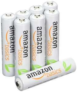 AmazonBasics 8 Pack AAA Pre-Charged Rechargeable Batteries £5.54 prime / £9.53 non prime @ Amazon