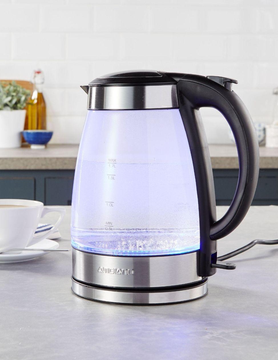 Ambiano 1.7L glass kettle £19.99 @ Aldi