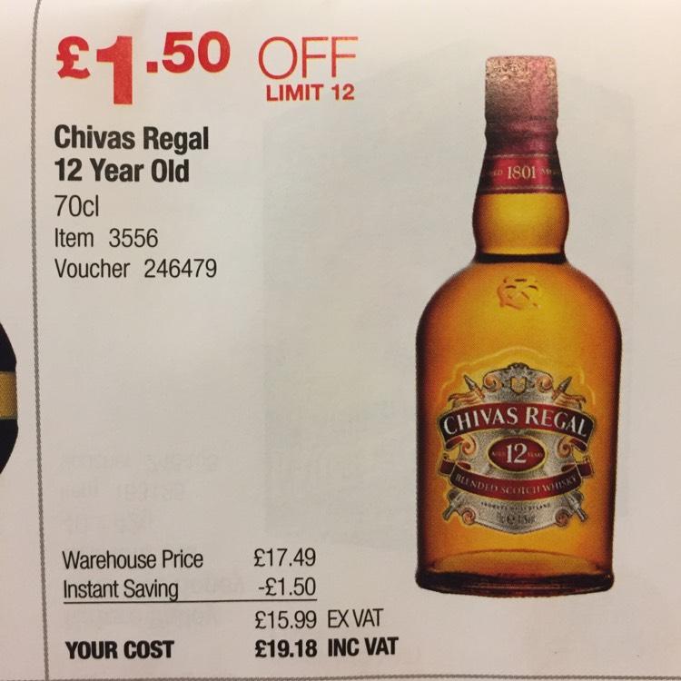 Chivas Regal 12yr Old , Only £19.18 70cl @ Costco