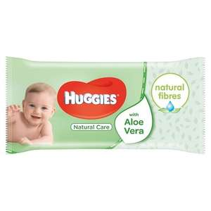 Huggies Natural Care Baby Wipes – 56 WIPES £0.70 (Add-on Item) @ Amazon