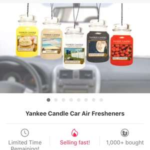 Yankee car air fresheners 12 pack £9.98 / £11.97 delivered @ Groupon