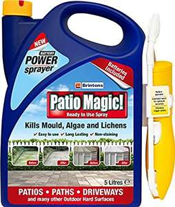 5L Brinton Patio Magic Power Sprayer (Ready to Use Spray) £5 @ Wilko (INSTORE ONLY)