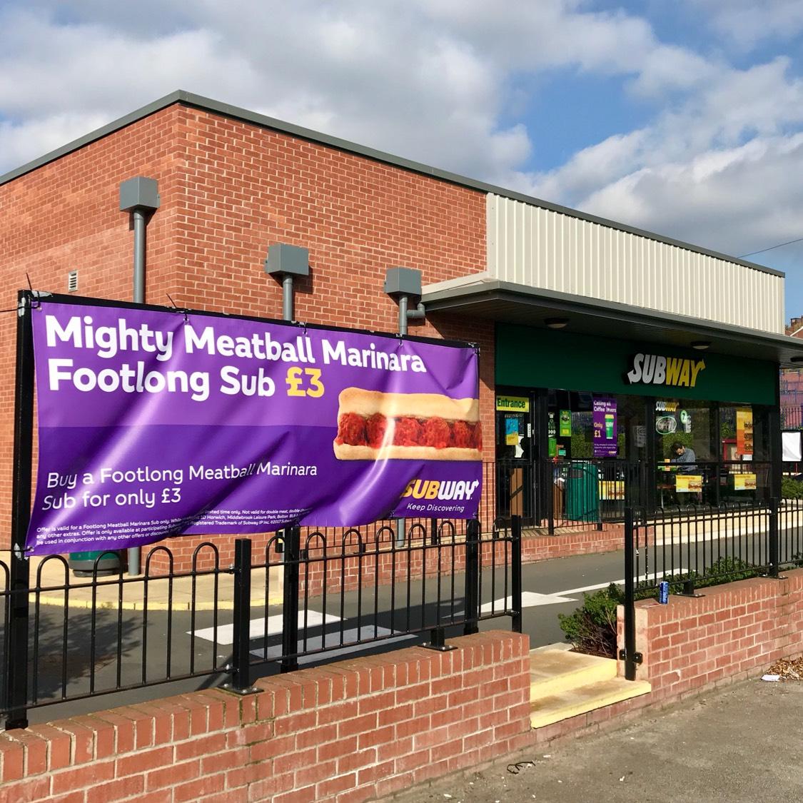 Footlong Mighty Meatball Marinara at Subway, Kirkstall Road, Leeds only