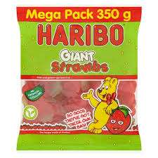 Haribo Mega Packs 350g -Giant Strawbs - Little Jelly Men - Fizzy Sea World and Farmyard Friends all Reduced to £1 each from £1.54 @ Morrisons