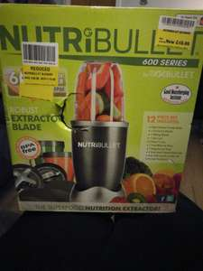 Nutribullet 600 yellow sticker reduction - £15 instore @ Morrisons (Glasgow) - also on sale: kettle microwave toaster