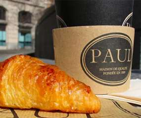 Free coffee and a croissant @ Paul (with loyalty card sign up)