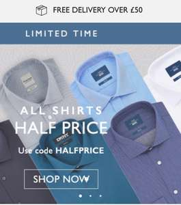 Moss Bros shirts half price