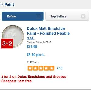 All Dulux paint at wickes is 3 for 2