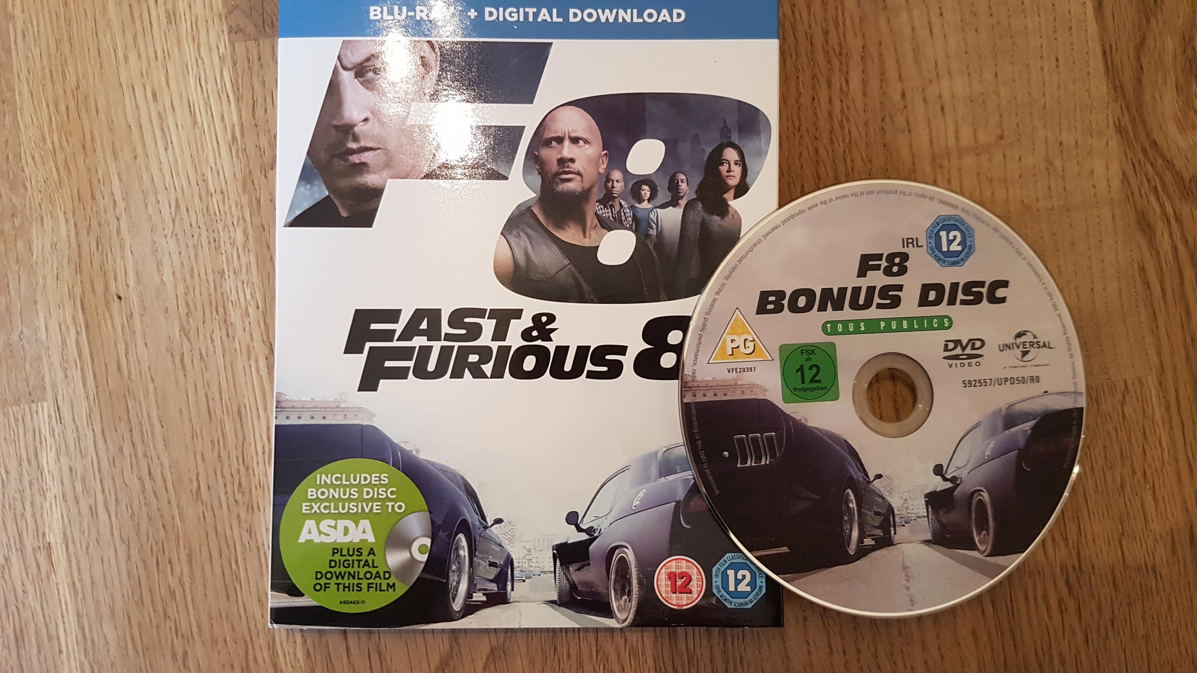 Fast and furious 8 @ Asda instore with bonus disc. £15