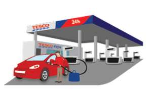 TESCO 10p off per litre of fuel when you spend £60