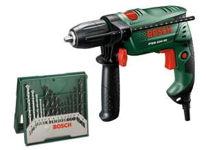 Bosch 500W Hammer Drill Plus 15 Piece Accessory Kit just £29.99 @ Homebase