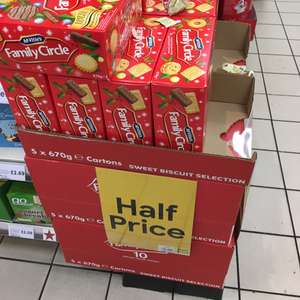 Family Circle biscuits at Tesco for £2 instore