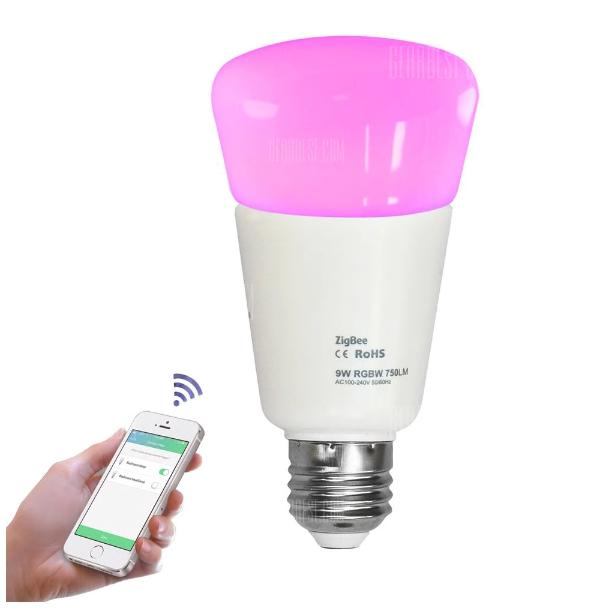 Jiawen Zigbee Bulb Smart Bulb Wireless Bulb APP Control Work with Zigbee Hub £12.98 @ Gearbest