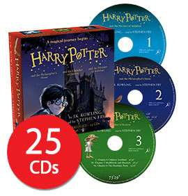 Harry Potter Books 1-3: Audio Collection - 25 CDs / Approx. 35 hours worth - £18.90 delivered w/code @ The Book People