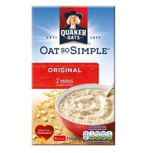 Quaker Oat So Simple (8 Pack) 87p @ Iceland