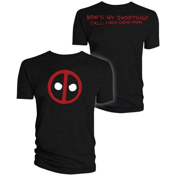 """Deadpool """"How's My Shooting"""" T-Shirt £5.99 @ Forbidden Planet"""