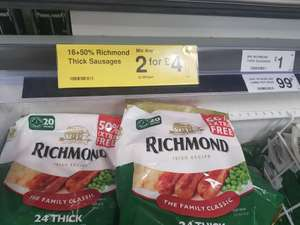 Richmond sausages 24 pack - 2 for £4 @ Farmfoods