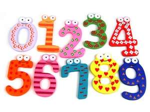 Tinxs Funky Fun Colorful Magnetic Numbers Wooden Fridge Magnets £1.29 delivered Dispatched from and sold by Wish List For You