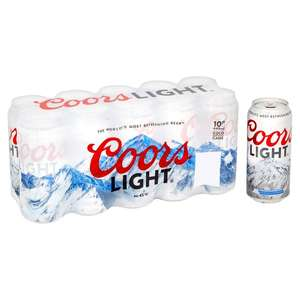 Coors Light 10 x 440ml cans £6 @ Morrions instore & online