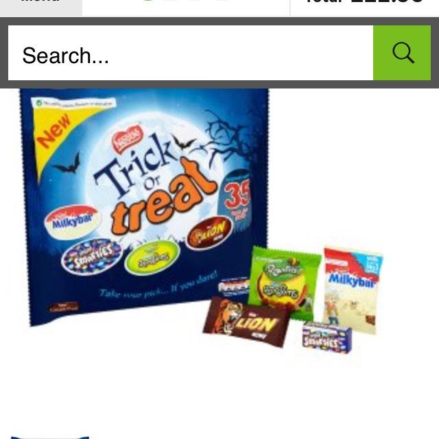 Trick or Treat funsize treats - £2.50 instore @ Asda
