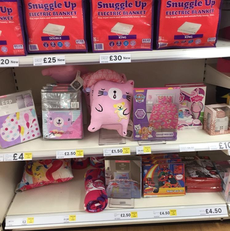 Children's bedding reduced in Tesco - broughton/chester e.g my little pony fleece blankets £1.50