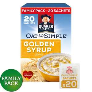 Quaker Oat So Simple Gold Syrup Sachets 20 x 36g -- Offer price £2, was £3.98! @ Morrisons