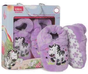Totes tots novelty zebra slippers 6-12 months £4.46 delivered with code @ Sock shop