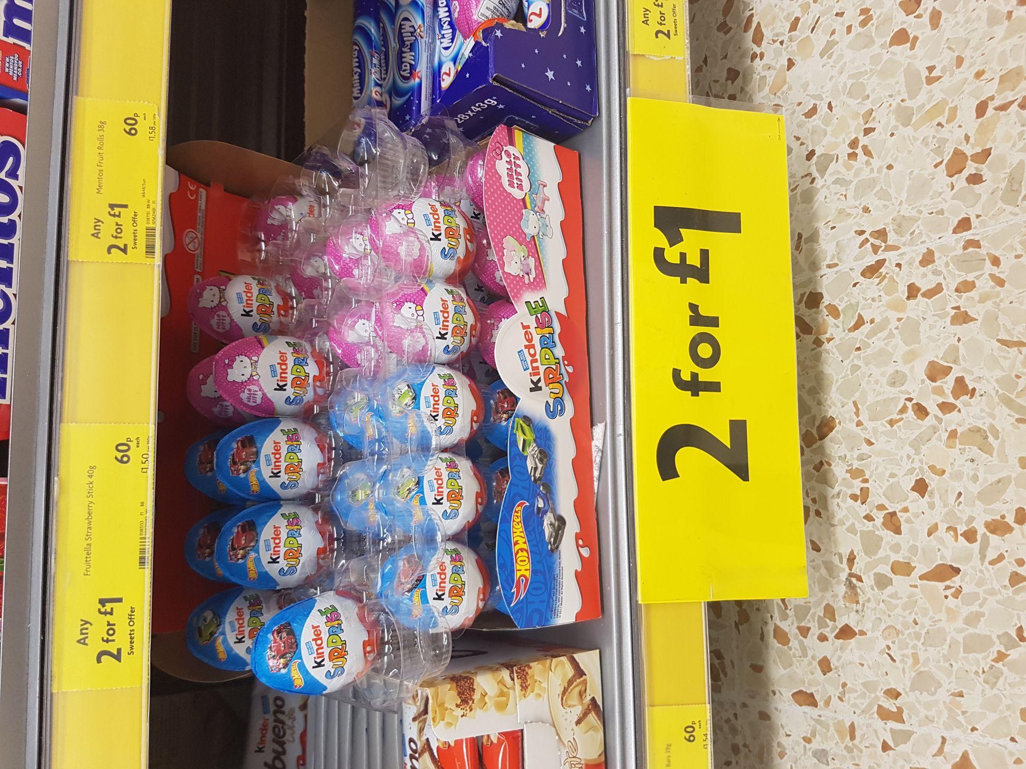 Kinder 2 for a £1 instore @ Morrisons