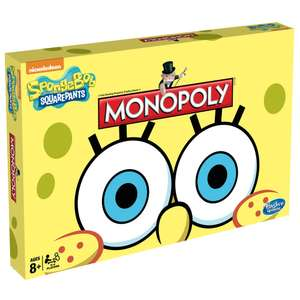 SpongeBob Monopoly £9.99 + £2.95 delivery (delivery free on orders over £29.99) Toys R Us - ONLINE ONLY