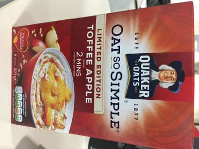 Quaker Oat So Simple Limited Edition Toffee Apple at £1 for 8 sachets instore @  Asda