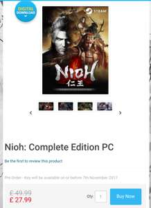 Nioh: Complete Edition PC (Includes DLC) - £27.99 (£26.59 with FB code) - Steam - CDKeys
