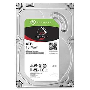 Seagate IronWolf 4 TB 3.5 inch Internal Hard Drive for 1-8 Bay NAS Systems (5900 RPM, 64 MB Cache up to 6.0Gb/s, 180 TB/Year Workload Rate) £104.87 Amazon