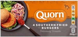 Quorn Burgers Southern Style (4 = 252g) was £2.00 now £1.50 @ Sainsbury's