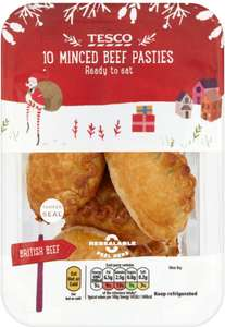 Tesco 10 Minced Beef Pasties (300g) was £2.00 now 2 packs of 10 for £3.00 (So 15p a mini pastie) @ Tesco