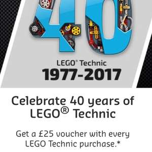 Get a £25 voucher with every LEGO Technic purchase above £99.99 @ Lego