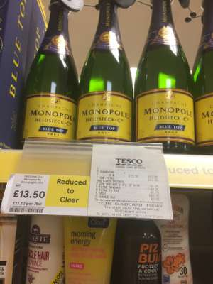Monopole champagne £13.50 instore @ Tesco Strood