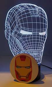 Iron Man Led Lamp £14.99 Prime / £18.98 non prime Sold by ktechlights and Fulfilled by Amazon