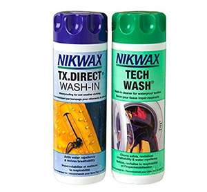 Nikwax Tech Wash & TX Direct Wash-In Waterproofing, 2x 1 Litre £11.25 (Prime Members only) @ Amazon