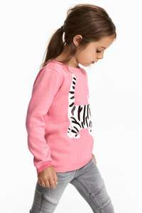 Girls jumpers only £3.59 with code + free delivery @ H&M