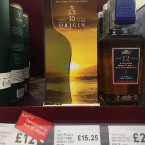 Jura origin 70cl RTC @ Tesco northcott £15.25