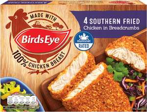 Birds Eye Southern Fried Chicken in Breadcrumbs (4 per pack - 360g) was £2.75 now £1.50 @ Tesco