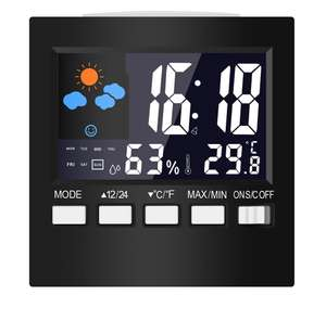 Temperature Humidity Alarm Clocks Digital Lcd Weather Led Display Calendar Timer £3.66 Delivered using code @ banggood