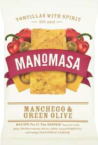 Manomasa tortillas manchego & green olive (160g) was £2.10 now £1.00 @ Waitrose