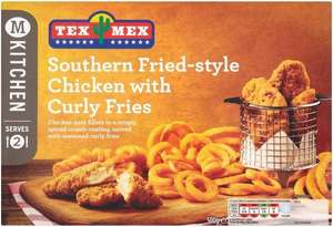 Morrisons Tex Mex Southern Fried Style Chicken with Curly Fries was £3.25 now £2.00 @ Morrisons