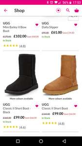 Currently a huge sale on UGG boots @ very e.g UGG Jorgen Boot - Toddler £30 / UGG Dalla Slipper £61