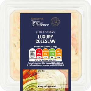 Sainsbury's Coleslaw, Taste the Difference (600g) Only £1.00: Save 90p @ Sainsbury's