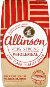 Allinson Premium Very Strong Wholemeal Bread Flour (1.5kg) Only £1.00: Save 50p @ Sainsbury's