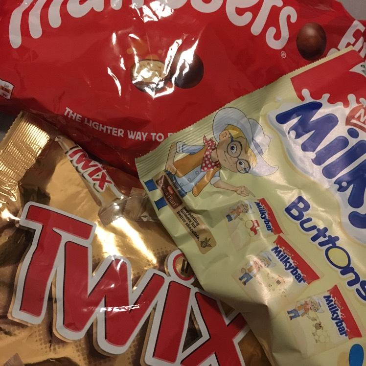 Better than half price variety of fun-size chocolate @ Tesco
