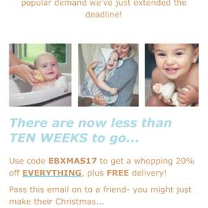 20% off everything @ cuddledry includes free shipping